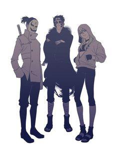 Shinki, Araya, and Yodo. Sand Team of The New Generation Anime Naruto, Naruto Gaara, Comic Naruto, Hinata, Manga Anime, Konoha Village, Naruto Teams, Boruto Naruto Next Generations, Sakura And Sasuke