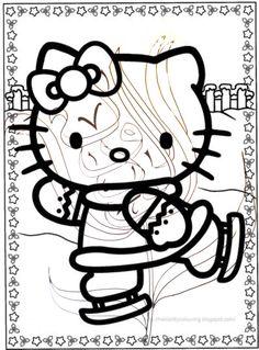 Hello Kitty who likes Ice Skating & Art
