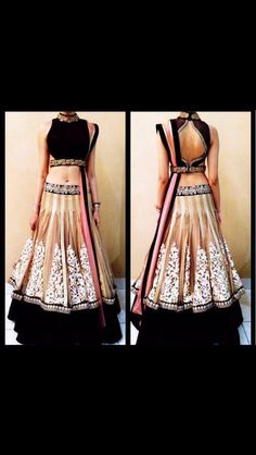Georgette lehenga with hand embroidery.. Can b done in ne color.