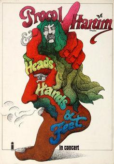 Procol Harum - A Salty Dog 1971 - Poster Plakat Konzertposter
