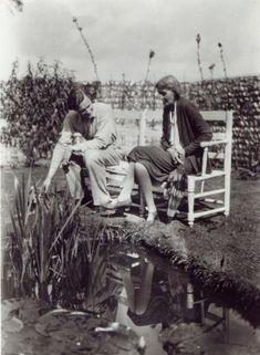 Virginia Woolf and John Lehmann   at Charleston, c.1931