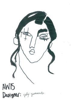 Yohji Yamamoto A/W15 Illustration by Helen Bullock