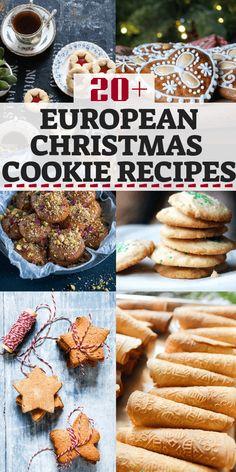 European Christmas Cookie Recipes – Eating European – The Best Christmas Cookies German Christmas Cookies, German Cookies, Xmas Cookies, Christmas Sweets, Christmas Cooking, Yummy Cookies, French Cookies, Christmas Foods, Christmas Candy