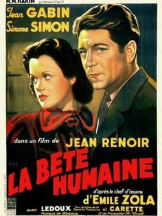 """La Bete Humaine"" (1938). Movie Poster."
