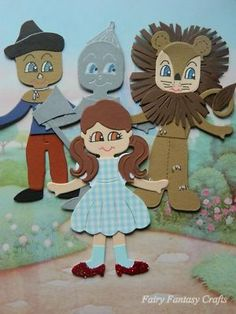 WIZARD OF OZ CHARACTER SIZZIX DOLL CARD TOPPER DOROTHY TIN MAN SCARECROW LION Found on eBay