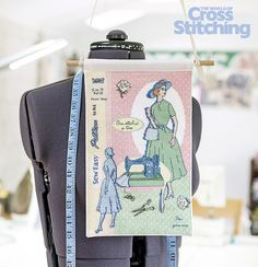Vintage dressmaker chic! Cross stitch idea inspired by seamstress' vintage patterns… enjoy our fabulous Stitcher's Challenge project this month, designed by @harrison6476 . Only in the new issue 231 of The World of Cross Stitching magazine