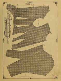 Ladies' Dress Bodice (1890) pattern, original instructions. lots of other patterns