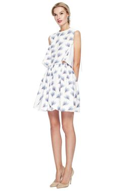 Marianna Cimini Corolla Skirt, $400 - the top is charming: v-drop neckline in back        Pinning made easy! http://www.pinny.co Pin any photo in any website with a click.
