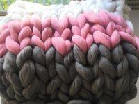 Chunky Knit blanket,Arm Knit Blanket,Merino Wool Blanket