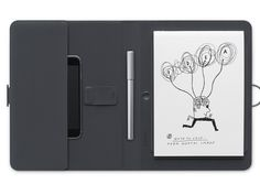 The Bamboo Spark is a sketchbook empowered by digital technology. It tracks your pen strokes on real paper, then transmits the results to your device.
