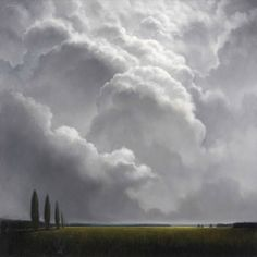 Soft clouds and lands . beautiful places to contemplate . James McLaughlin Way . Sky Painting, Painting & Drawing, Abstract Landscape, Landscape Paintings, Wow Art, Le Far West, Sky And Clouds, Types Of Art, Terra