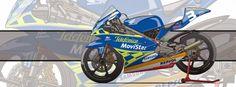 Motorcycle Art - Honda RS 125 R GP by Evan DeCiren #3