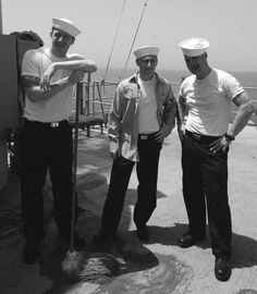 Some fellow Sailors took an Ol' Timey Photo during deployment in 2008 on the USS Nassau, in the Persian Gulf