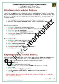 Present Perfect - Arbeitsblätter mit Lösungen | Englisch ...
