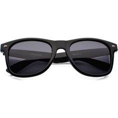 Okulary Przeciwsłoneczne Wayfarer Czarne 0258