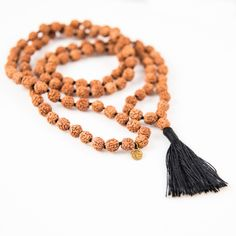 Practice Mala with colored tassel