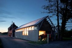 Built by Atelier Vens Vanbelle in Zedelgem, Belgium with date 0. Images by Tim Van De Velde. When building a barn architecture is reduced to its essence: walls with a roof and some windows and doors. It is a qu...