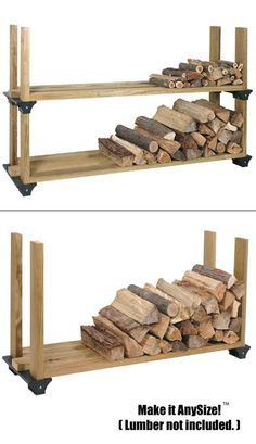 Amazon.com: 2x4basics 90144 Firewood Rack System, Black: Home Improvement
