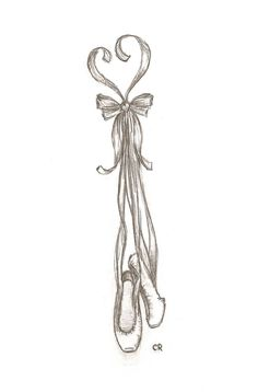 Ballet shoes- tattoo idea. I love this. Think this might be my next tattoo...