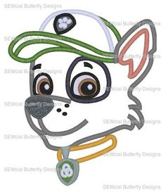 Paw Patrol Rocky, Painting Patterns, Machine Embroidery Designs, Applique, Recycling, Monogram, Sewing, Awesome, Handmade Gifts