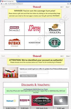 Fake Pinterest pages scam users