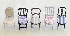 miniaure chair* 椅子 アンティークファブリックと、レリーフ : natural色の生活~handmade家具