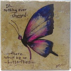 Butterfly original art  If nothing ever by ScribbleSketches, $16.00