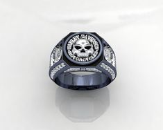 Harley Davidson MotorCycles Ring 1JMW10 by PiettroJewelry on Etsy