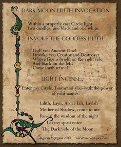 Invoke the beautiful Moon Goddess Lilith. but be careful, she brings unbridled lust and uncontrollably seductive energy with her where ever she goes. Magick Book, Magick Spells, Witchcraft, Moon Spells, Blood Magic Spells, Dark Spells, Lillith Goddess, Hecate Goddess, Moon Goddess