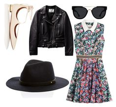 A fashion look from July 2016 featuring floral printed dress, leather biker jackets and pointy-toe flats. Browse and shop related looks. Pointy Toe Flats, Mary Katrantzou, Aquazzura, Dating, Fashion Looks, Sun, Shoe Bag, Polyvore, Jackets