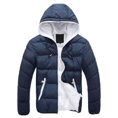 BYWX Men Short Stylish Workout Casual Thickened Puffer Jacket