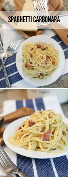 Recipes | Pasta | Easy Dinner Ideas |   Spaghetti Carbonara Recipe is a simple and delicious dinner recipes the entire family enjoys!