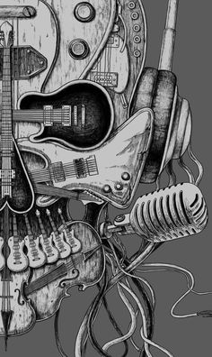 Roll draw music drawings, punk radio и music tattoos Music Drawings, Art Drawings, Tee Design, Skull Design, Art Music, Music Artists, Musik Wallpaper, Cool Wallpaper, Music Tattoos