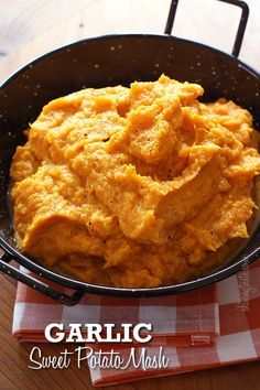 Garlic Sweet Potato Mash – If you're not a fan of traditional sweet potatoes, you'll love this savory version!