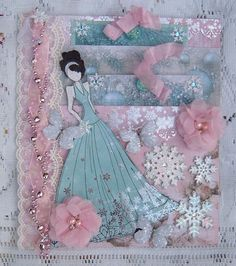 Reneabouquets Customer Spotlight!! Winterlicious Large Pocket Tag created by Reneabouquets Customer Mary Longberry!! Items from the Reneabouquets.com and Reneabouquets Etsy Shops: Reneabouquets Tiny Treasures Ice Glitter Glass Butterflies Reneabouquets Soft Pink Chiffon Flowers Reneabouquets Trim Sheer Romance White Lace  Come find your Frosty  Fabulousness here: http://www.Reneabouquets.com http://www.Etsy.com/shop/Reneabouquets