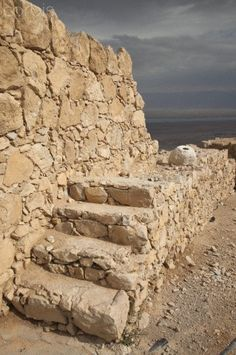 Ruins of Masada, Israel. It's so pretty especially if you hike to the top to watch the sun rise.