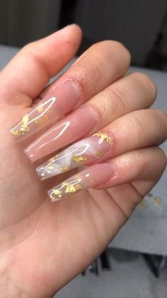 Bling Acrylic Nails, Square Acrylic Nails, White Acrylic Nails, Best Acrylic Nails, Summer Acrylic Nails, Coffin Nails, Gel Nails, Clear Glitter Nails, Bling Nails