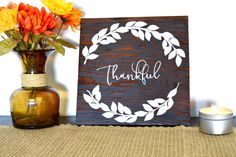 Aloha Artisans has created a new holiday collection, featuring Thanksgiving-themed products. Our Thankful wooden sign is the perfect addition to your home to add some holiday flair to any room. Buy it by itself, or purchase one of our bundles and save on shipping. Each one of our up-cycled signs is hand cut, sanded, painted and then dried on our lanai by the Hawaiian Sun. This piece was stained with Kona stain and the text was handpainted with white acrylic paint. We finish and seal all of…