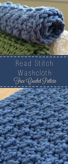 Free Crochet Pattern! Bead Stitch Washcloth