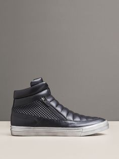 FOREST HILL HIGH-TOP LEATHER SNEAKER - KENNETH COLE BLACK LABEL
