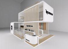 Nespresso Exhibition Stand on Behance Exhibition Stall Design, Exhibition Stands, Maquette Architecture, Stand Feria, Showroom Interior Design, Pavilion Design, Modern Office Design, Design Museum, Retail Design