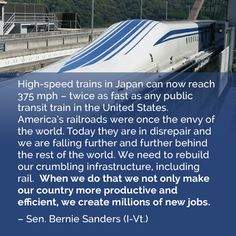 Investing in infrastructure should not be a partison issue! PROGRESSIVES are on the RIGHT TRACK here!