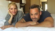 Emma Caulfield and Nicholas Brendon from former hit TV show <i>Buffy the Vampire Slayer</i>.