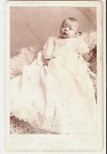 CABINET CARD BABY IN WICKER BABY CARRIAGE. I.D. WILL WISSEL ...