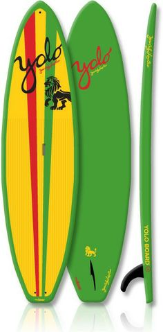 This YOLO Coastal Cruiser Rasta Green Stand Up Paddle Board provides the same superior stability and benefits as the best selling 12' original at a great price point. The Coastal Cruiser offers ease of use for all water conditions.