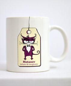 Cană cu Motanov Mugs, Tableware, Stuff To Buy, Dinnerware, Tumblers, Tablewares, Mug, Dishes, Place Settings