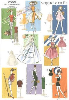 BARBIE VOGUE sewing PATTERN 7559 pdf e by vintagelovesyou