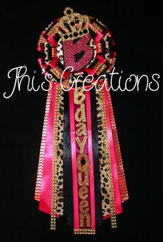 Breanna's Queen B birthday pin/mum/corsage in hot pink black cheetah and gold Diy Birthday Pin, Pink And Gold Birthday Party, Birthday Badge, 70th Birthday Parties, 23rd Birthday, Golden Birthday, Sweet 16 Birthday, Birthday Stuff, Birthday Ideas