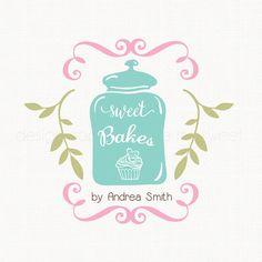 cookie jar panadería logo logotipo Magdalena por stylemesweetdesign