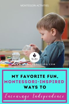 Have you ever thought of applying the Montessori Approach in Childhood Learning? Have you asked yourself what are some ways to foster independence at an early age? Check out these Montessori activities for your baby, toddlers, kindergarten, even for elementary kids that will surely educate you to help your kids in being independent. Montessori Activities, Activities To Do, Baby Checklist, Baby Must Haves, Practical Life, Blog Writing, Baby Milestones, Elementary Education, Life Skills